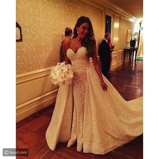 bc23d79733789 أفضل فساتين زفاف المشاهير في 2015 - عود