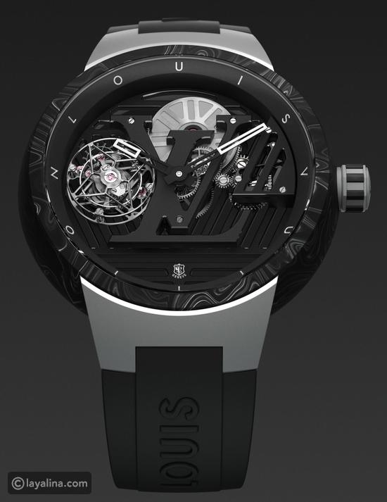 Louis Vuitton يصدر ساعته الجديدة Tambour Curve Flying Tourbillon