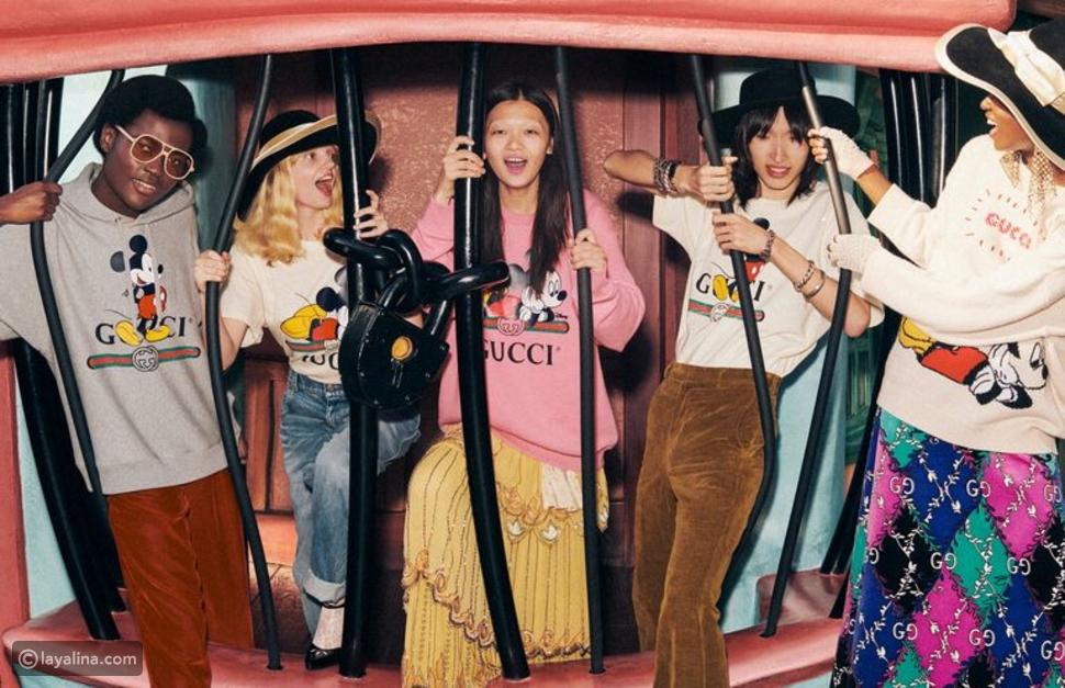 Gucci تطرح مجموعة جديدة لميكي ماوس