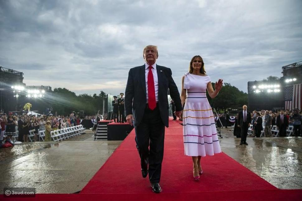 ماذا ارتدت ميلانيا ترامب في اليوم الوطني؟
