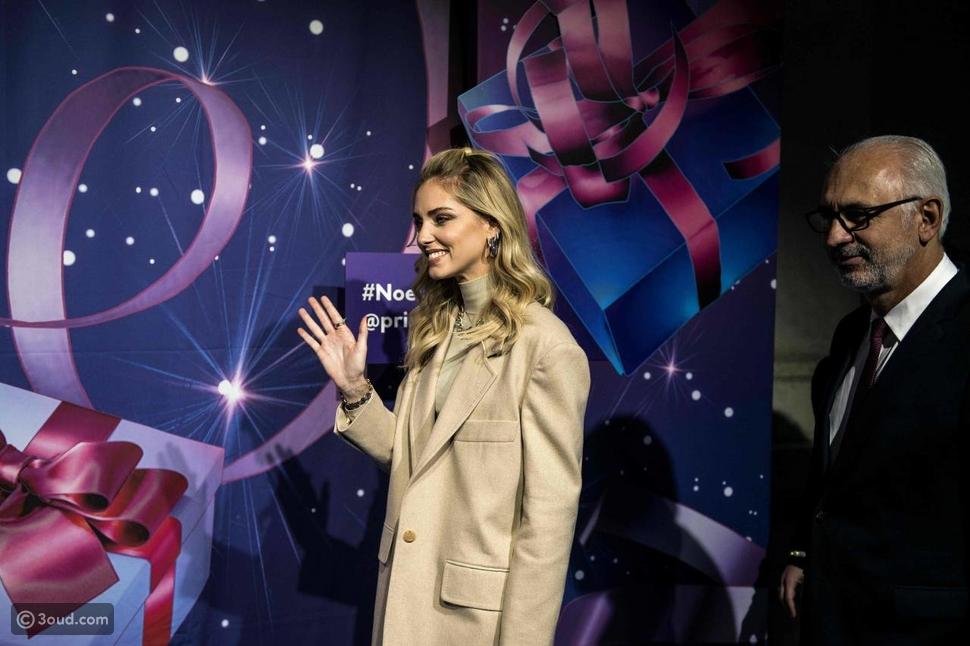 كيارا فيرانيي تحضر افتتاح زينة الميلاد في باريس