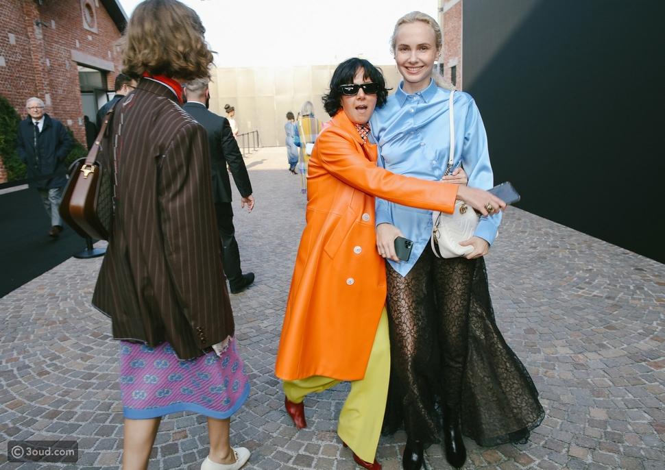 استلهمي إطلالتك بطريقة Street Style من حاضرات أسبوع الموضة في ميلانو